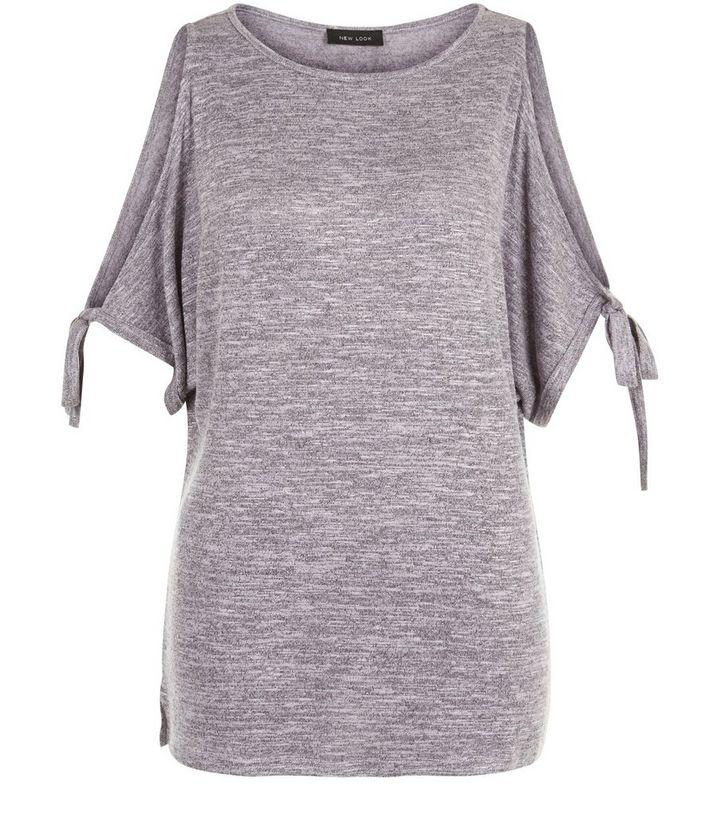 822d30cd91f8d ... Light Purple Tie Sleeve Cold Shoulder Longline Top. ×. ×. ×. Shop the  look