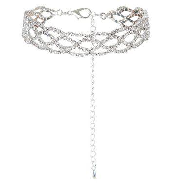 Silver Diamante Bracelet New Look
