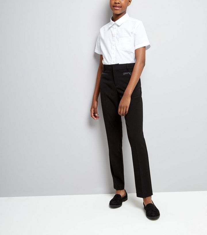 46f180e254 Teens Black Pocket Trim Trousers | New Look