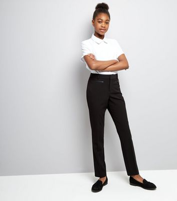 Teens Black Pocket Trim Trousers New Look