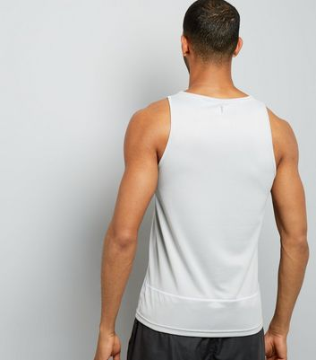 Grey Drop Arm Sports Vest New Look