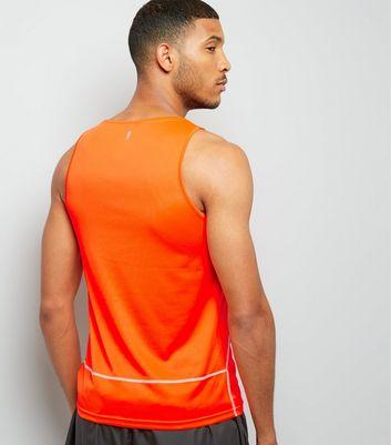 Orange Drop Arm Sports Vest New Look