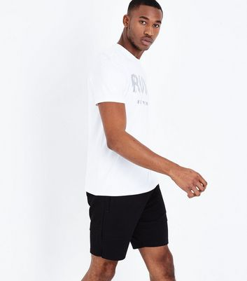 Black Jersey Sports Shorts New Look