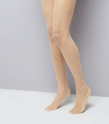 Nude Fishnet Tights New Look