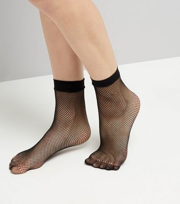 Black Fishnet Socks New Look