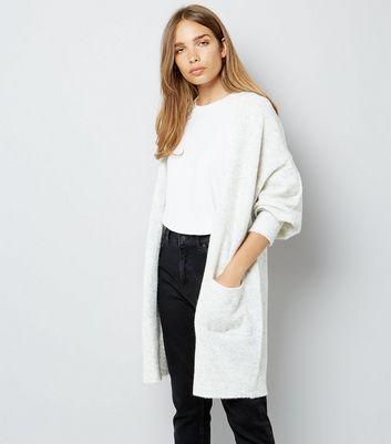 grey-open-front-batwing-sleeve-longline-cardigan