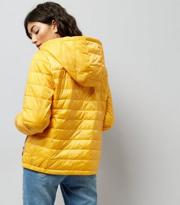 Yellow Lightweight Puffer Jacket New Look