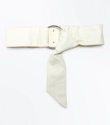Cream Slouchy Knot Front Waist Belt New Look