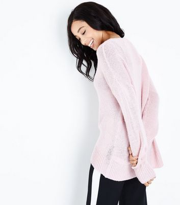 Tall Pink Longline Jumper New Look