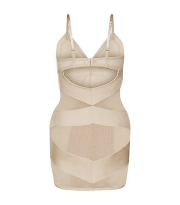 Nude Mesh Panel Shaping Slip New Look