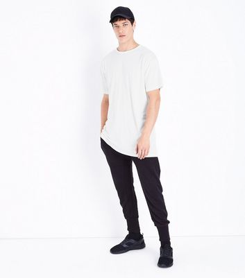 White Split Hem Longline T-Shirt New Look