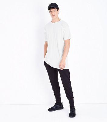 White Split Hem Longline T-Shirt New Look