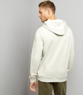 Pale Grey Pocket Front Hoodie New Look