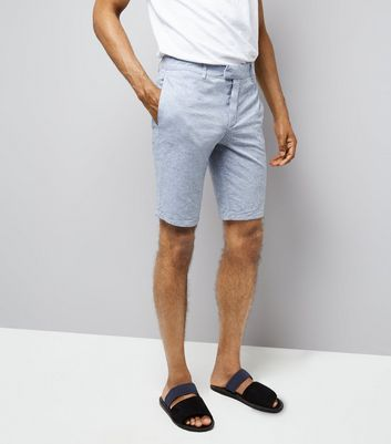Pale Blue Slim Leg Oxford Tailored Shorts New Look