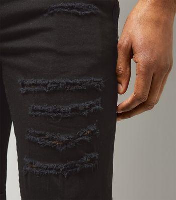 Black Ripped Skinny Shorts New Look