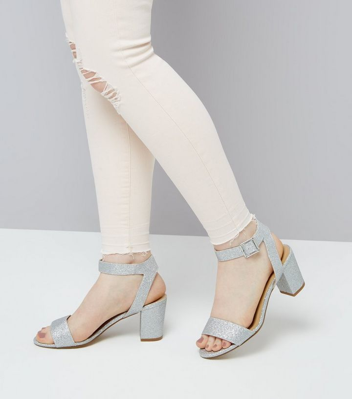 c7ac6ffbe8c ... Teens Silver Glitter Heeled Sandals. ×. ×. ×. VIDEO Shop the look
