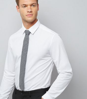 Grey Chambray Tie New Look