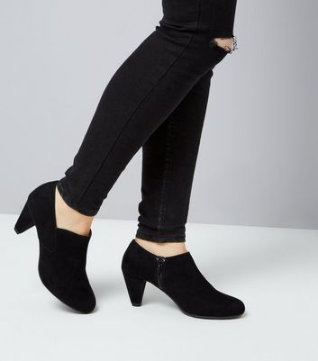 Teens Black Suedette Shoe Boots New Look