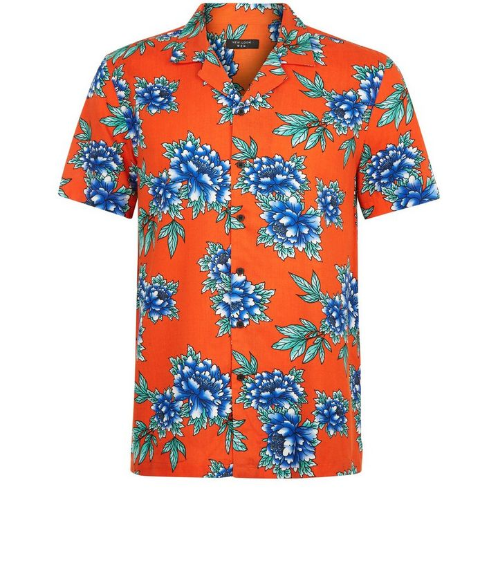 beb062fe ... Red Tropical Floral Print Short Sleeve Shirt. ×. ×. ×. Shop the look