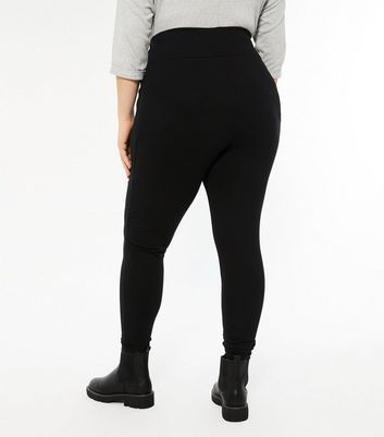 Curves Black High Waist Leggings New Look