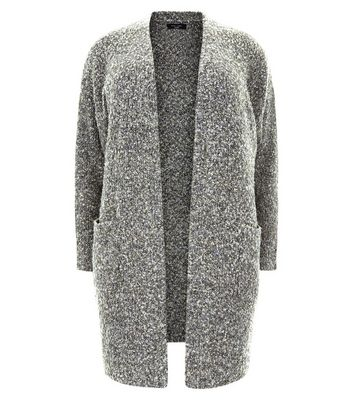 Curves Grey Boucle Cardigan New Look