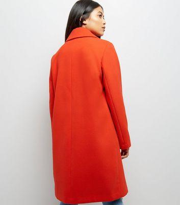 petite-red-longline-collared-coat