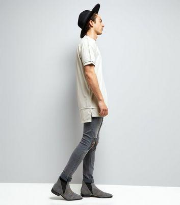 Grey Layered Longline T-Shirt New Look