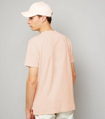 Pink Zip Detail T-Shirt New Look