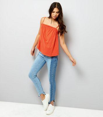 Orange Frill Trim Cami Top New Look