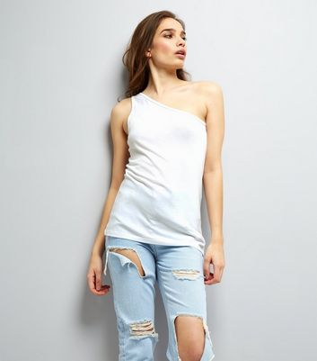 White Off the Shoulder Vest New Look