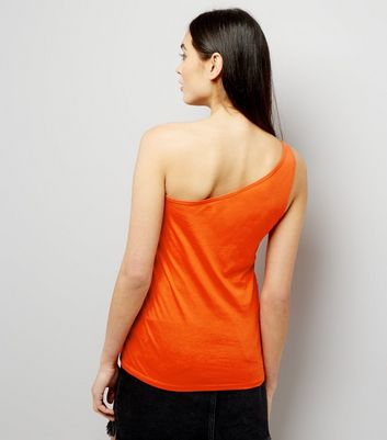 Orange Off the Shoulder Vest New Look