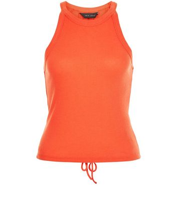 Orange Lace Back Vest New Look
