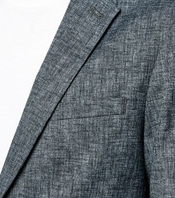 Blue Cross Hatch Tailored Suit Jacket