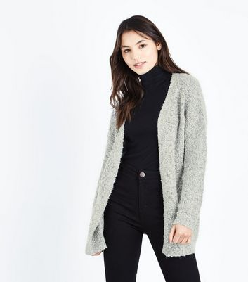 JDY Grey Double Pocket Cardigan New Look