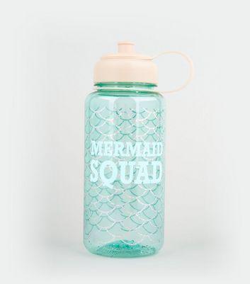 Blue Mermaid Design Water Bottle New Look