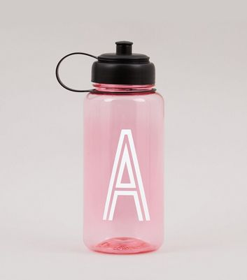Pink Initial A Water Bottle New Look