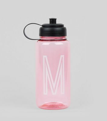 Pink Initial M Water Bottle New Look