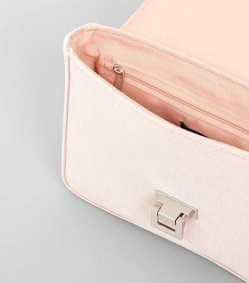 Pink Velvet Lock Front Shoulder Bag New Look