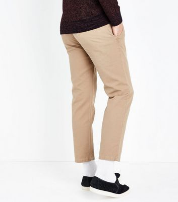 Stone Cropped Slim Leg Chinos New Look