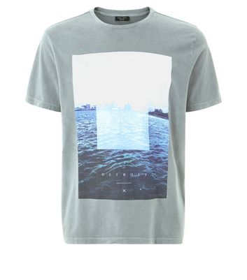 Grey Detroit Graphic Print T-Shirt New Look