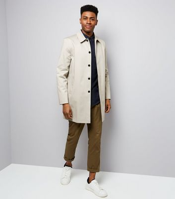 Stone Button Front Mac New Look