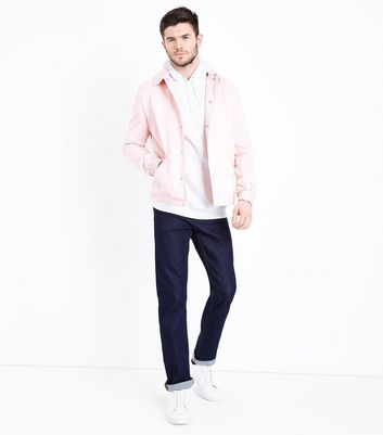 Pale Pink Button Front Jacket New Look