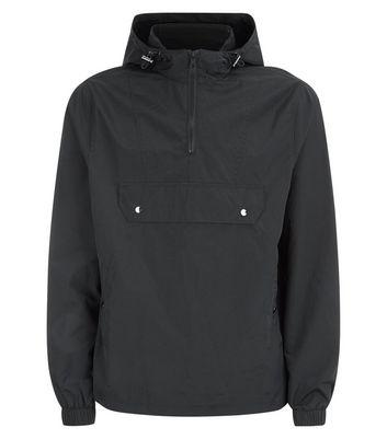 Black Pocket Front Hooded Jacket New Look