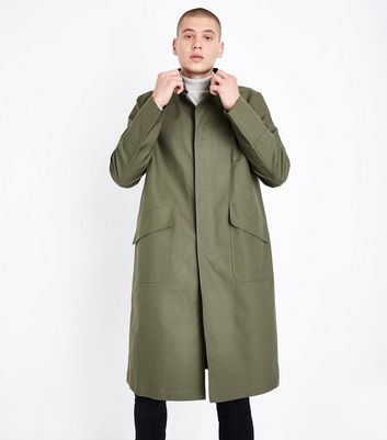 Khaki Longline Mac New Look