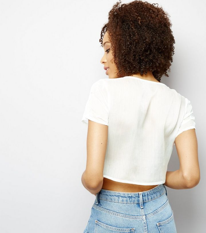 e151bb5b4be740 ... Parisian White Embroidered Crop Top. ×. ×. ×. Shop the look