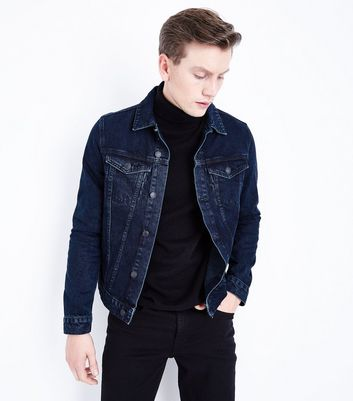Dark Blue Denim Jacket New Look