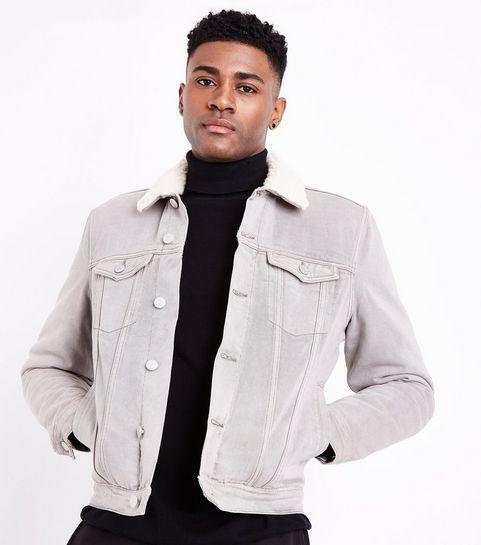 Vestes en jean Homme   Vestes noires   bordeaux   New Look 617c8370a63c