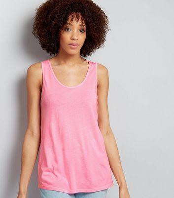 Bright Pink Lattice Back Vest New Look