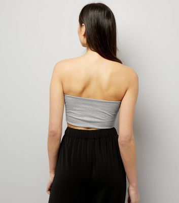 Grey Corset Bandeau New Look