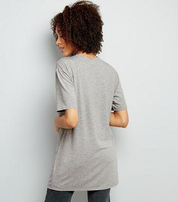 Grey Exodus Skull Print Rock Band Longline T-Shirt New Look